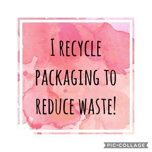 ♻️ I recycle ♻️ packaging to reduce waste!